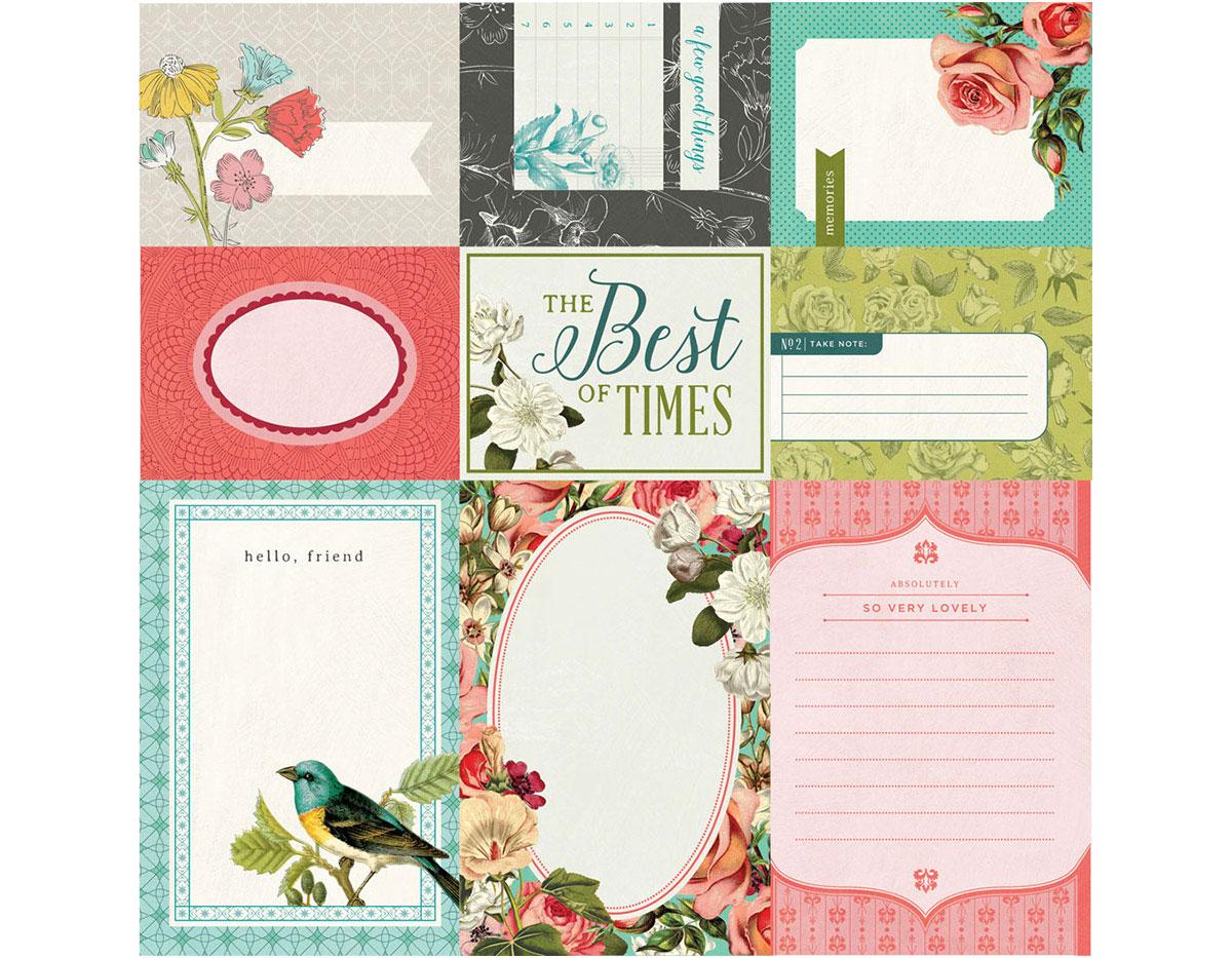 TEA-4871 Tarjetas anotaciones diarias TEA GARDEN Basic Grey