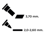 TEM-34 Rotulador para EMBOSS dual color lila caligrafia 1 Emboss - Ítem2