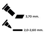 TEM-35 Rotulador para EMBOSS dual color glicinia caligrafia 1 Emboss - Ítem2