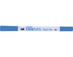 TEM-36 Rotulador para EMBOSS dual color lavanda caligrafia 1 Emboss