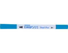 TEM-9 Rotulador para EMBOSS dual color azul ceruleo caligrafia 1 Emboss