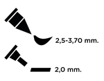 TEM2-36 Rotulador para EMBOSS dual color lavanda caligrafia 2 Emboss - Ítem2