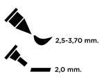 TEM2-5 Rotulador para EMBOSS dual color carmin caligrafia 2 Emboss - Ítem2