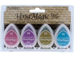 TGD-100-002 Set 4 almohadillas de tinta opaca joyero efecto tiza Versamagic