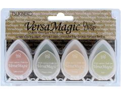 TGD-100-006 Set 4 almohadillas de tinta opaca cuatro esquinas efecto tiza Versamagic