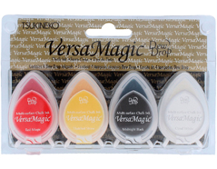 TGD-100-009 Set 4 almohadillas de tinta opaca payasadas efecto tiza Versamagic