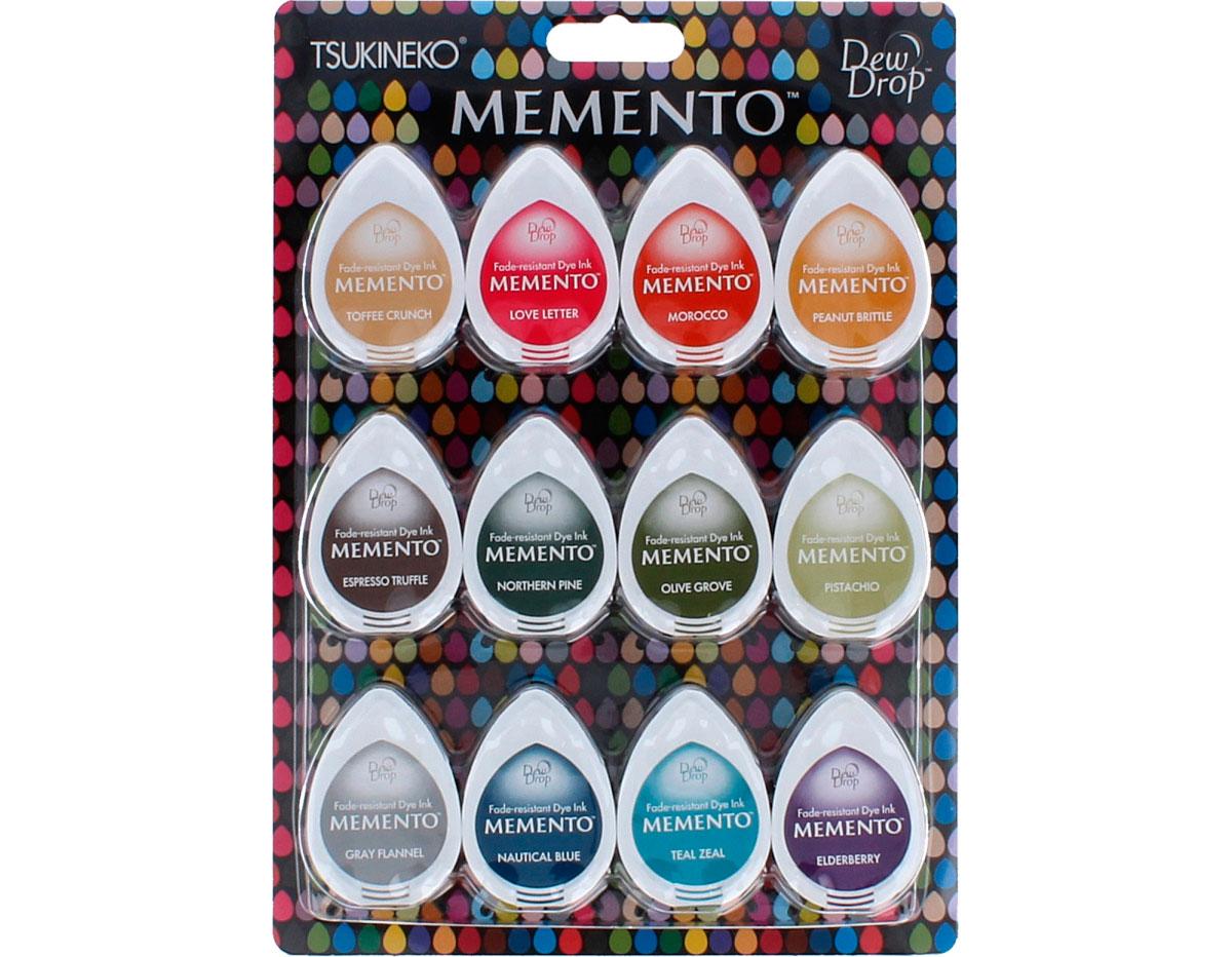 TMD-012-300 Set 12 almohadillas de tinta translucida MEMENTO raspadilla Memento