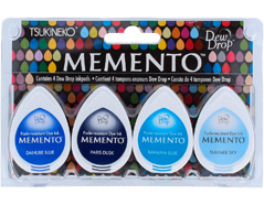 TMD-100-004 Set 4 almohadillas de tinta translucida MEMENTO oceano Memento