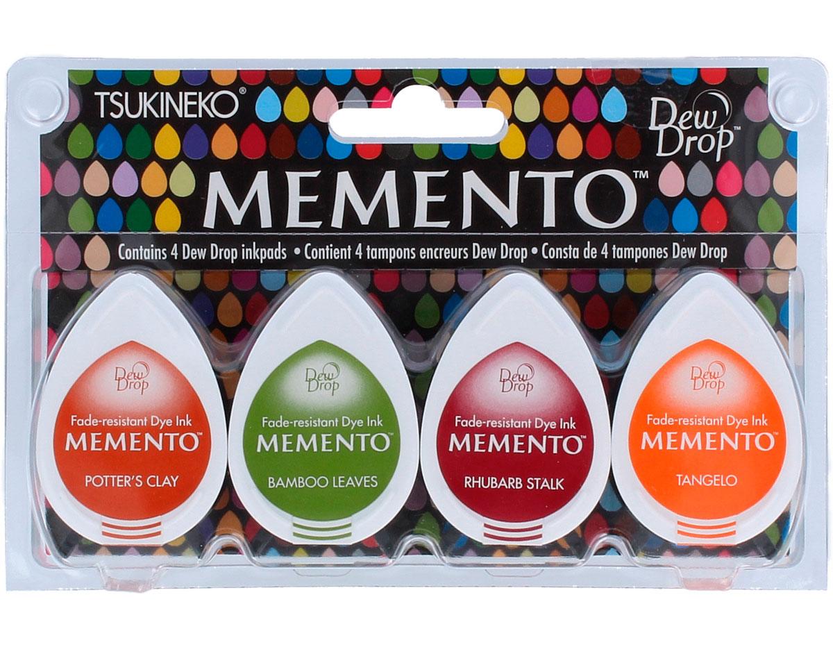 TMD-100-007 Set 4 almohadillas de tinta translucida MEMENTO pradera Tsukineko
