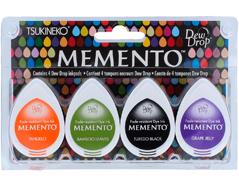 TMD-100-008 Set 4 almohadillas de tinta translucida MEMENTO confites Tsukineko