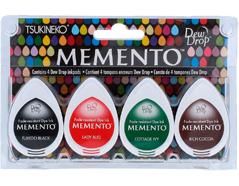 TMD-100-009 Set 4 almohadillas de tinta translucida MEMENTO imprescindible Memento