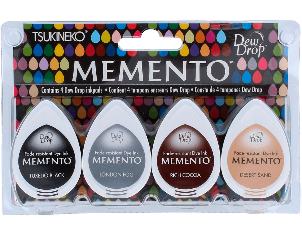 TMD-100-010 Set 4 almohadillas de tinta translucida MEMENTO montana de piedra Memento