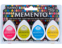 TMD-100-012 Set 4 almohadillas de tinta translucida MEMENTO fiesta en la playa Memento