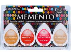 TMD-100-016 Set 4 almohadillas de tinta translucida MEMENTO crepusculo dorado Memento