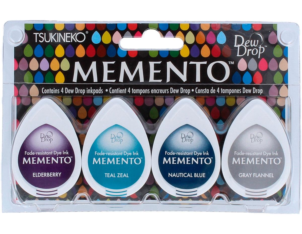 TMD-100-018 Set 4 almohadillas de tinta translucida MEMENTO juego de delfines Memento