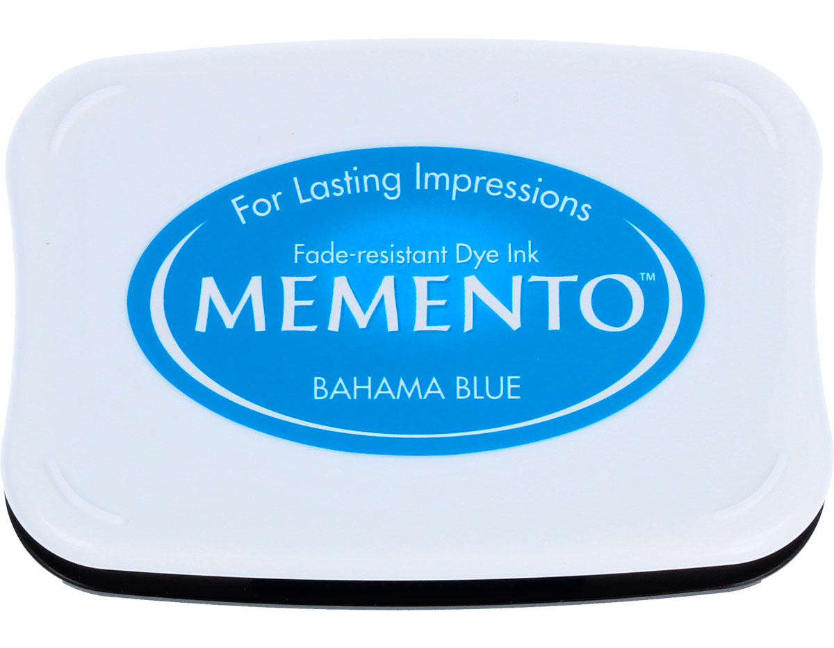 TME-601 Tinta MEMENTO color azul Bahamas translucida Memento