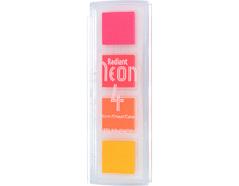 TNR-QTT-091 Set 4 almohadillas de tinta RADIANT NEON opaca colores calidos Radiant neon