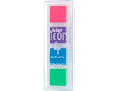TNR-QTT-092 Set 4 almohadillas de tinta RADIANT NEON opaca colores frios Radiant neon