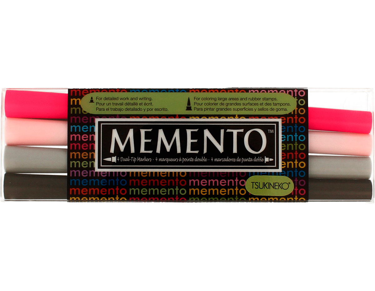 TPM-100-006 Set 4 rotuladores ilustracion MEMENTO noche de fiesta Memento