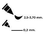TPM-902 Rotulador ilustracion MEMENTO dual tip franela gris Memento - Ítem2