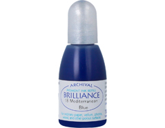 TRB-18 Tinta BRILLIANCE color azul Mediterraneo efecto nacarado recarga Brilliance