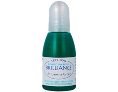 TRB-21 Tinta BRILLIANCE color verde brillante efecto nacarado recarga Brilliance