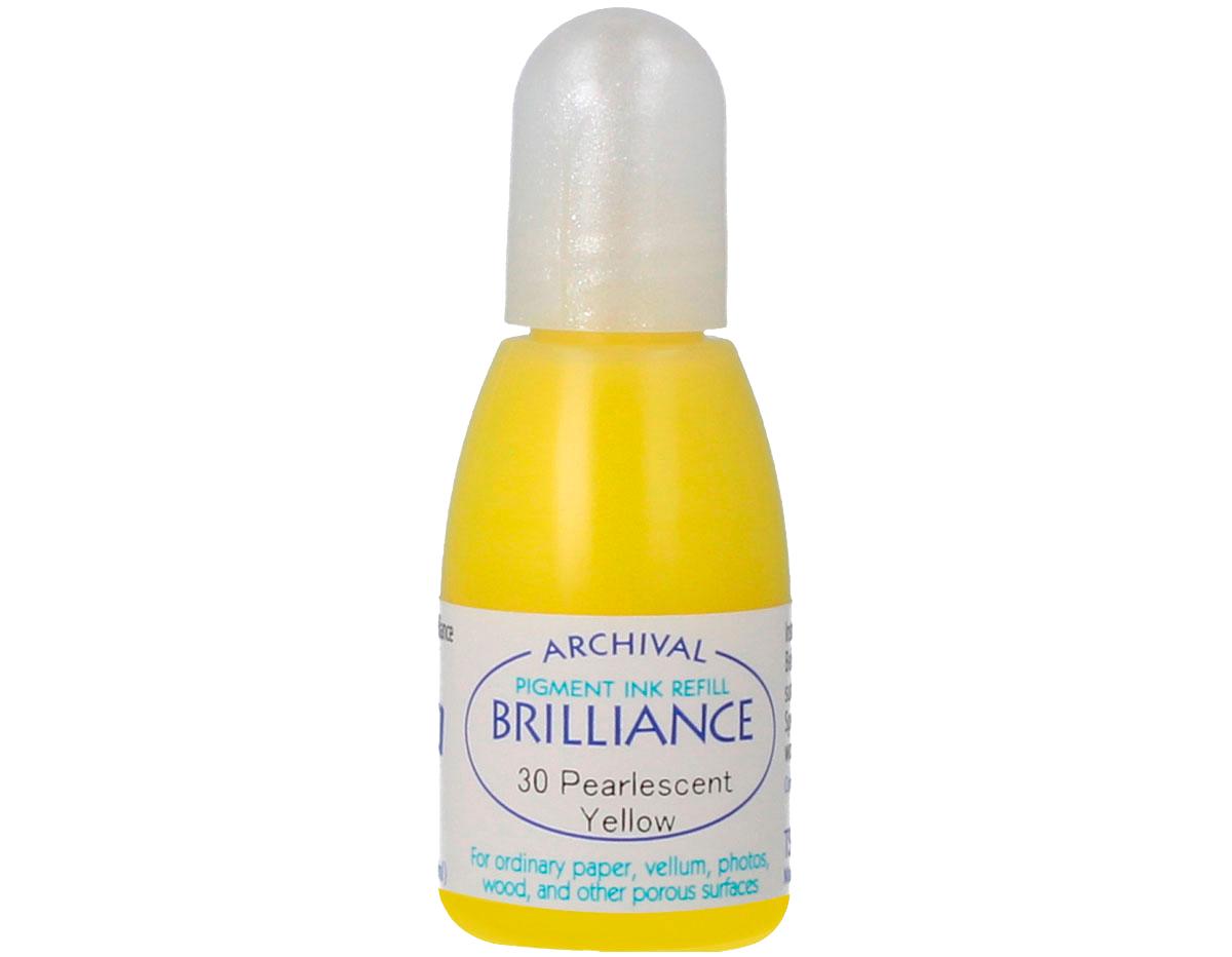 TRB-30 Tinta BRILLIANCE color amarillo perlado efecto nacarado recarga Brilliance