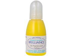 TRB-30 Tinta BRILLIANCE color amarillo perlado efecto nacarado recarga Brilliance