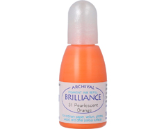 TRB-31 Tinta BRILLIANCE color anaranjado perlado efecto nacarado recarga Brilliance