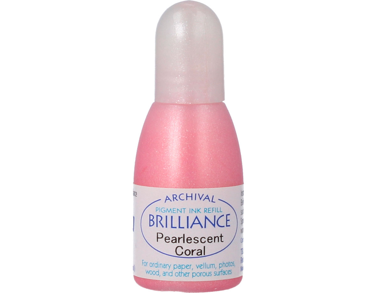 TRB-32 Tinta BRILLIANCE color coral perlado efecto nacarado recarga Brilliance