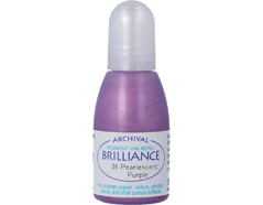 TRB-36 Tinta BRILLIANCE color morado perlado efecto nacarado recarga Brilliance