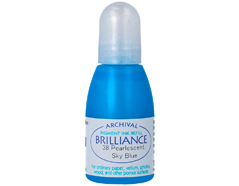 TRB-38 Tinta BRILLIANCE color azul cielo efecto nacarado recarga Brilliance