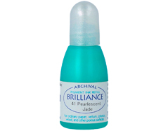 TRB-41 Tinta BRILLIANCE color jade perlado efecto nacarado recarga Brilliance