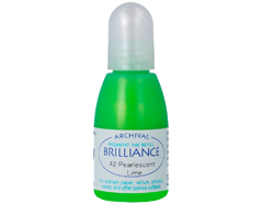 TRB-42 Tinta BRILLIANCE color verde lima perlado efecto nacarado recarga Brilliance