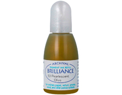 TRB-53 Tinta BRILLIANCE color oliva perlado efecto nacarado recarga Brilliance