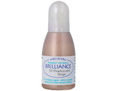 TRB-55 Tinta BRILLIANCE color beige perlado efecto nacarado recarga Brilliance