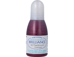 TRB-62 Tinta BRILLIANCE color carmesi perlado efecto nacarado recarga Brilliance