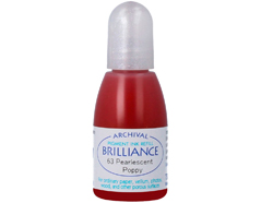TRB-63 Tinta BRILLIANCE color amapola perlada efecto nacarado recarga Brilliance
