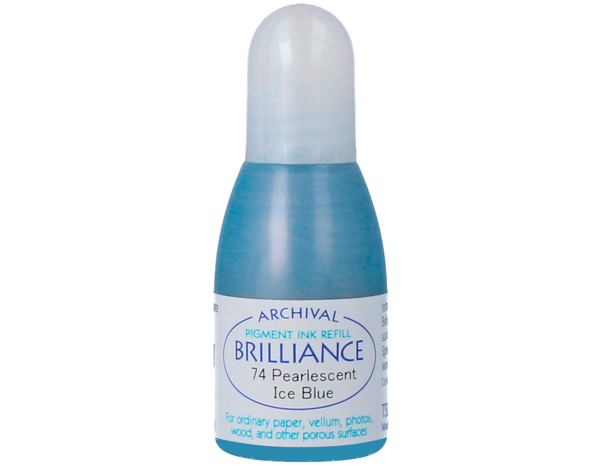TRB-74 Tinta BRILLIANCE color azul hielo perlado efecto nacarado recarga Brilliance