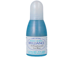 TRB-74 Tinta BRILLIANCE color azul hielo perlado efecto nacarado recarga Brilliance