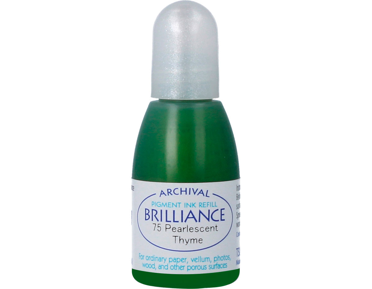 TRB-75 Tinta BRILLIANCE color tomillo perlado efecto nacarado recarga Brilliance