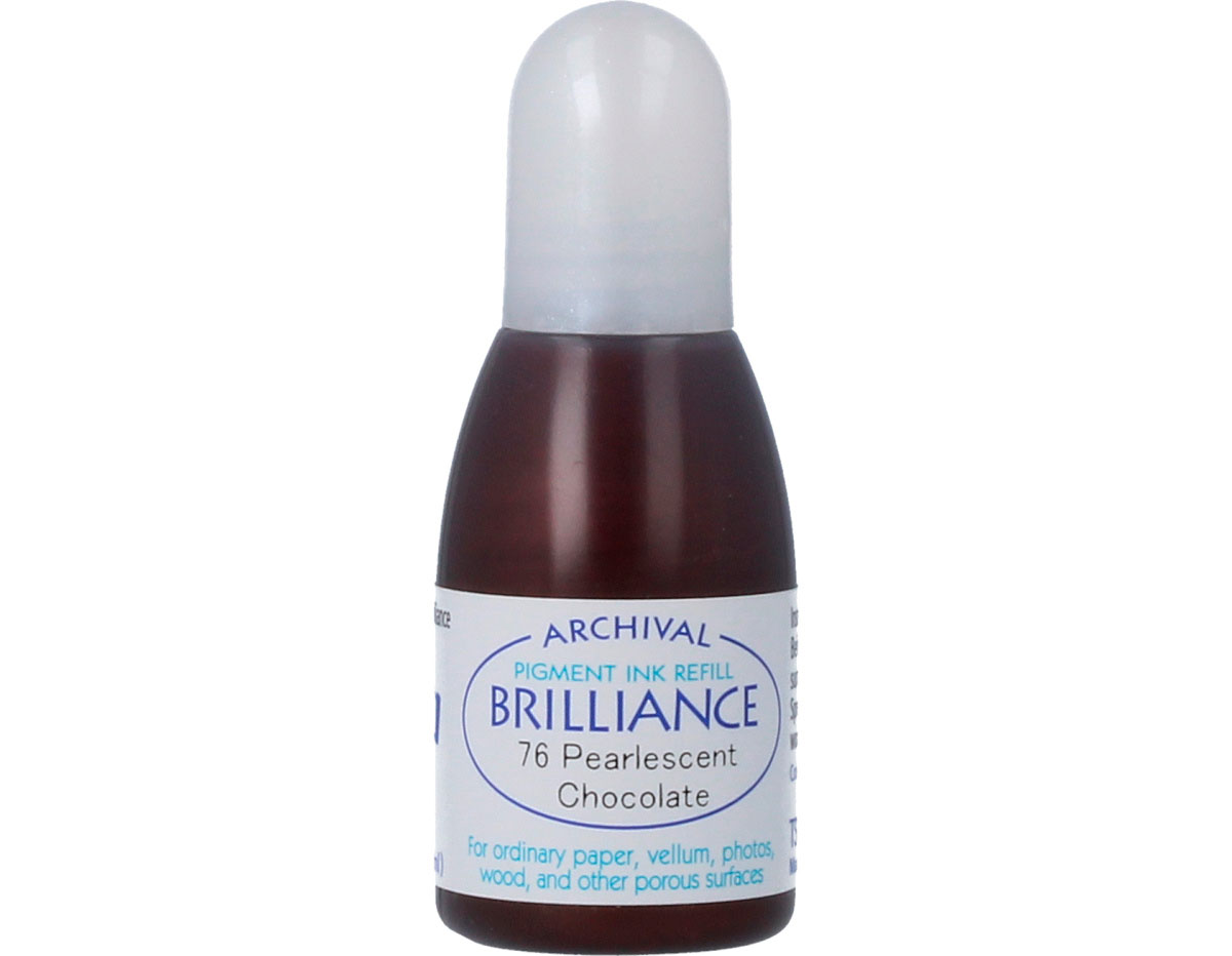 TRB-76 Tinta BRILLIANCE color chocolate perlado efecto nacarado recarga Brilliance