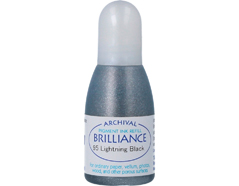 TRB-95 Tinta BRILLIANCE color negro relampago efecto nacarado recarga Brilliance