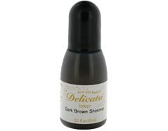 TRC-354 Tinta DELICATA color marron oscuro metalica brillante recarga Delicata