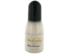 TRC-380 Tinta DELICATA color blanco metalica brillante recarga Delicata