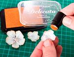 TRC-380 Tinta DELICATA color blanco metalica brillante recarga Delicata - Ítem3