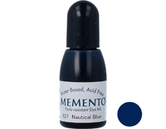 TRM-607 Tinta MEMENTO color azul nautico translucida recarga Memento