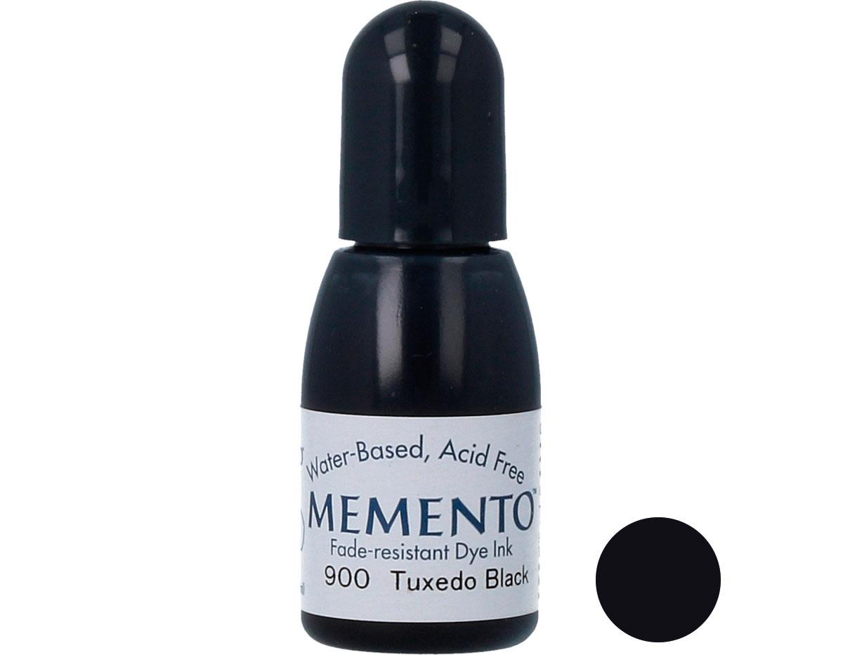 TRM-900 Tinta MEMENTO color negro esmoquin translucida recarga Memento