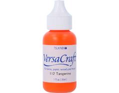TRVK-112 Tinta VERSACRAFT para textil color tangerina recarga Versacraft