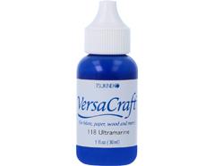 TRVK-118 Tinta VERSACRAFT para textil color azul ultramarino recarga Versacraft
